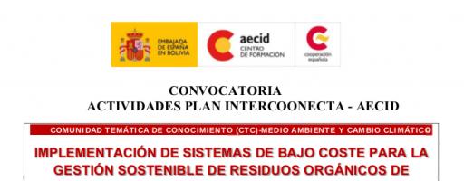 Curso sobre gestión de residuos mediante sistemas de bajo coste en áreas rurales de países de Latino América y Caribe, Bolivia, 20-24 de noviembre de 2017